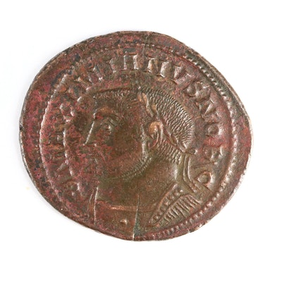 Ancient Roman Imperial AE Follis Coin of Galerius, ca. 303 A.D.
