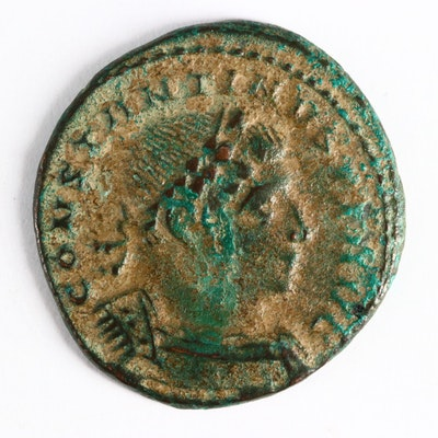 "Ancient Roman Imperial AE Follis Coin of Constantine I, ""The Great"", ca. 310 A.D"