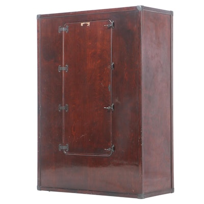 Attributed to Likly & Rockett Trunk Co., Mahoganized Steamer Wardrobe