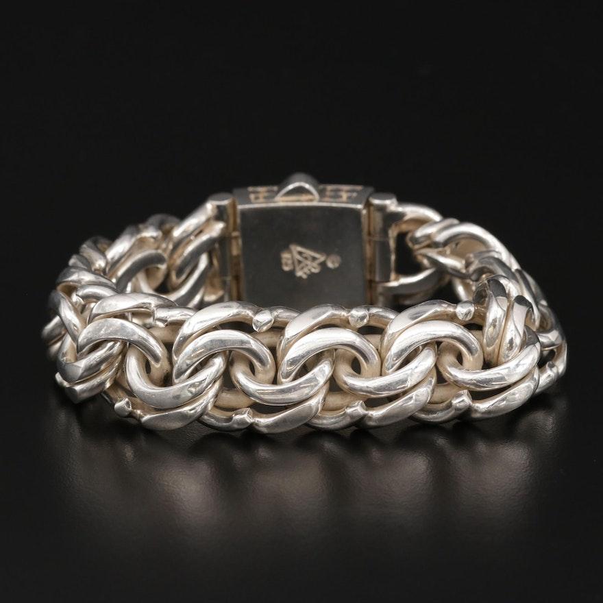 Signed Sterling Silver Bracelet
