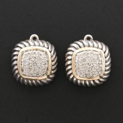 David Yurman Diamond Earring Dangles