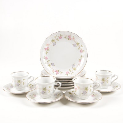 Walbrzych Floral Porcelain Tea and Dessert Set