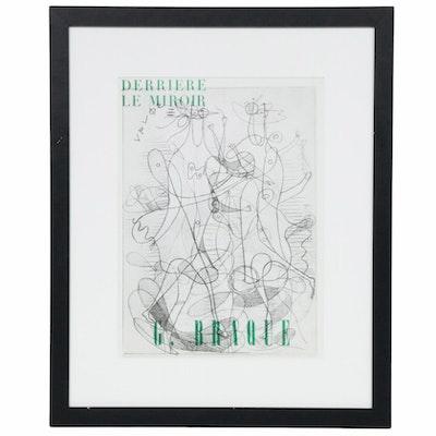 """After Georges Braque Halftone Cover for """"Derrière le Miroir,"""" 1954"""
