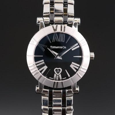 Tiffany & Co. Atlas Stainless Steel and Black Ceramic Quartz Wristwatch