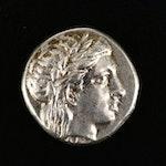 Ancient Kios, Bithynia AR Hemidrachm, Greek Galley Type, ca. 350 B.C.