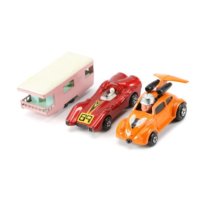 Matchbox Diecast Toy Cars and Trailer Caravan