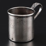 """Stieff """"Stieff Rose"""" Sterling Silver Baby Cup, Early/Mid 20th Century"""
