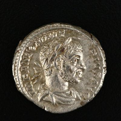 Ancient Roman Imperial AR Denarius of Elagabalus, ca. 219 A.D.