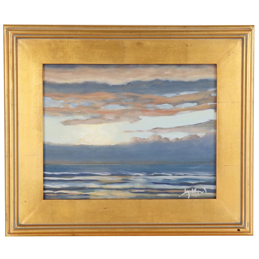 """Jay Wilford Seascape Oil Painting """"Edge of Heaven"""""""