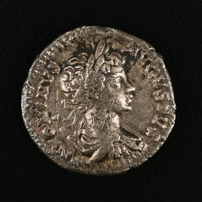 Ancient Roman Imperial AR Denarius of Caracalla, ca. 199 A.D