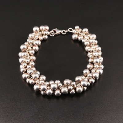 Sterling Silver Multi-Beaded Bracelet