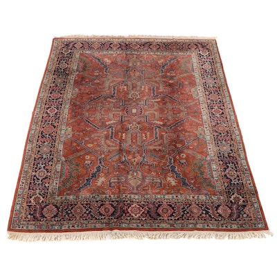 8'11 x 12'5 Hand-Knotted Persian Feraghan Wool Rug