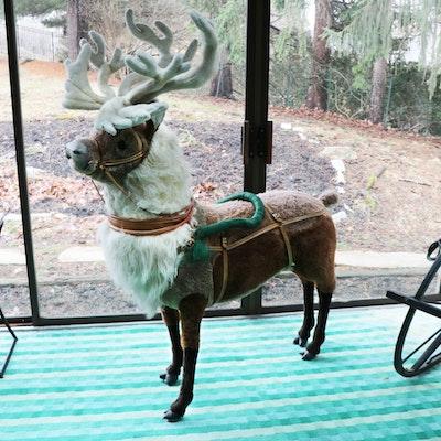 Ramat Large Plush Reindeer, Vintage