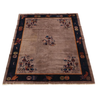 8'10 x 11'6 Hand-Knotted Chinese Peking  Floral Wool Rug