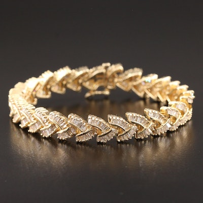 14K Yellow Gold 5.02 CTW Diamond Bracelet