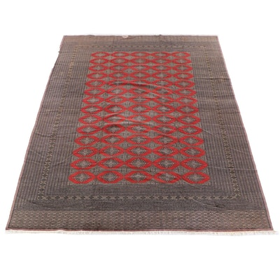 10'3 x 13'2 Hand-Knotted Pakistani Bokhara Wool Room Sized Rug