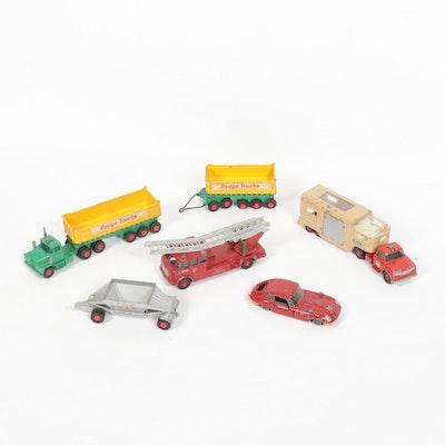 Matchbox Diecast Tractors, Trucks, Cars and Fire Trucks, Mid-20th Century