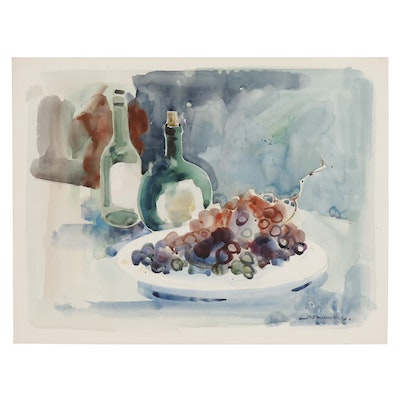 Jack Meanwell Abstract Still Life Watercolor Painting