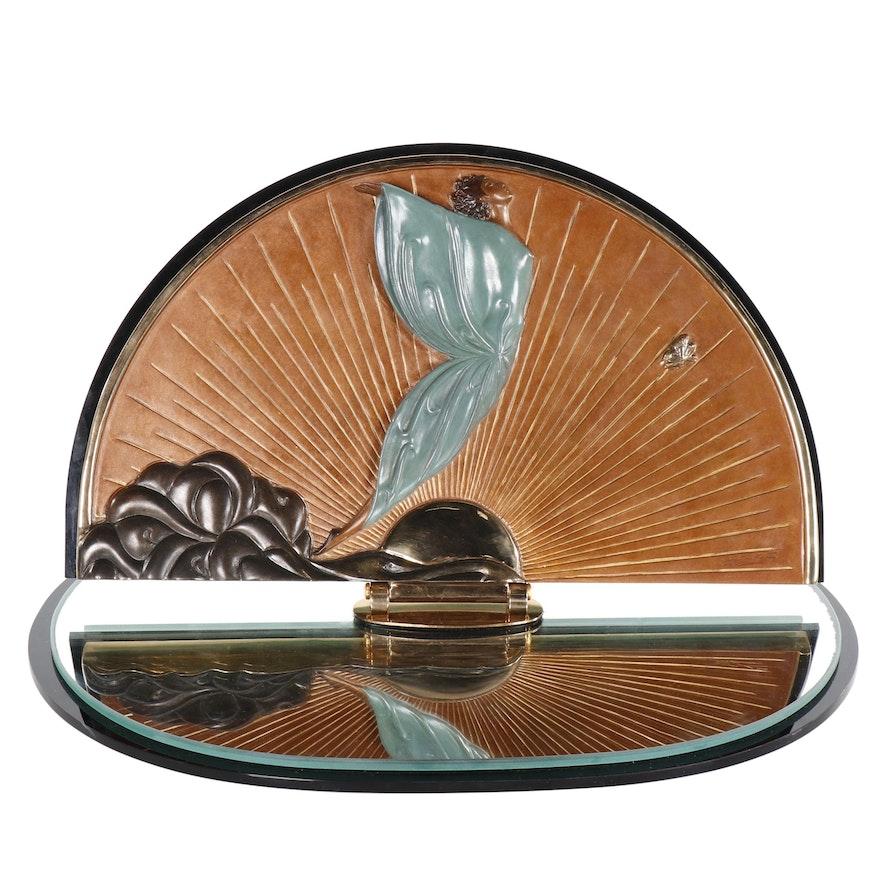"Erté Patinated Bronze Vanity Mirror ""Transcendence"", 1984"