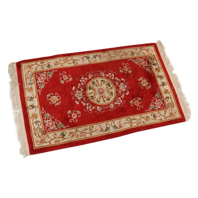 3'2 x 5'8 Power Loomed Chinese Sculpted Wool Accent Rug