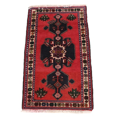 2'4 x 4'2 Hand-Knotted Persian Luri Wool