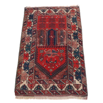 3'10 x 6'3 Hand-Knotted Persian Qashqai Wool Rug