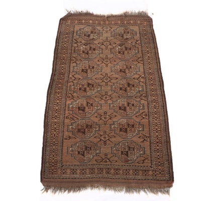 3'1 x 5'7 Hand-Knotted Persian Baluch Wool Rug
