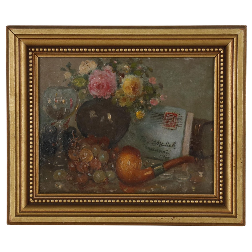Still Life Oil Painting in the Style of Charles Meurer