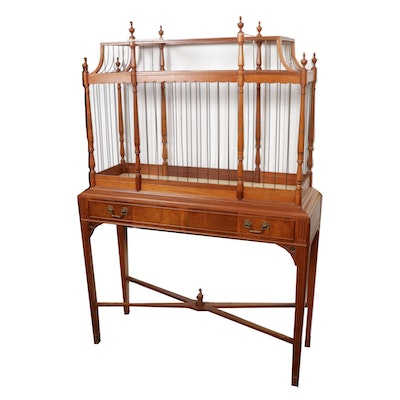 Victorian Mahogany and Brass Birdcage