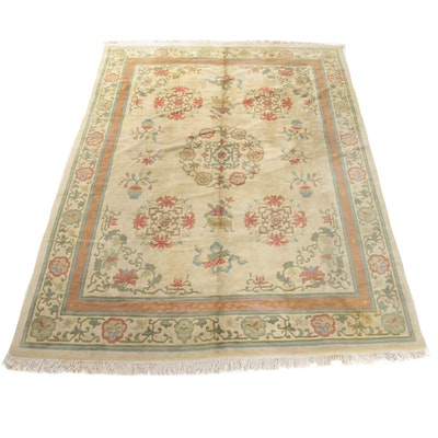 8'9 x 12'6 Hand-Knotted Chinese Peking Room Size Rug, 1960s