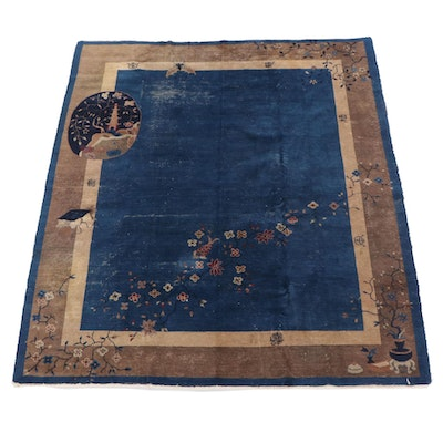 8'1 x 9'6 Hand-Knotted Chinese Nichols Wool Rug