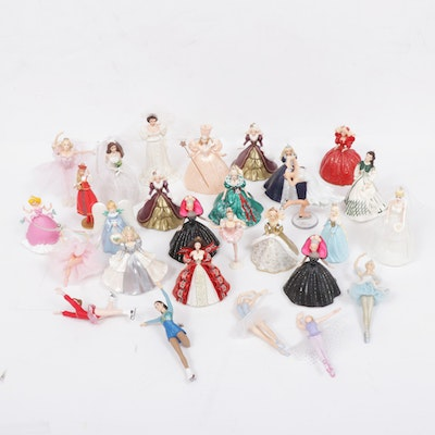Hallmark Keepsake Ornaments Including Barbie, Madame Alexander and Others