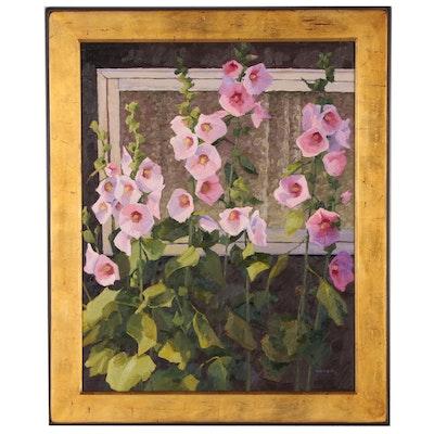"Shirley Novak Oil Painting ""Summer Evening Willow Creek Cabin"""