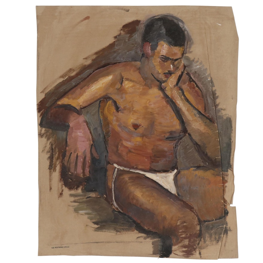 Robert Whitmore Figural Oil Painting