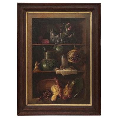 Armando Ahuatzi Still Life Oil Painting, 1978
