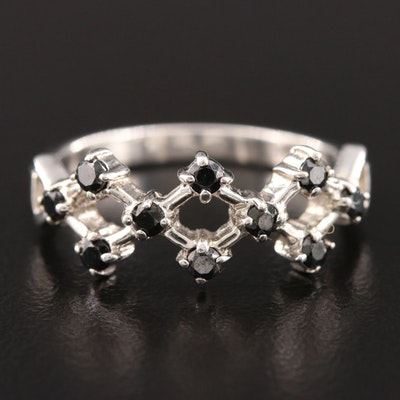Sterling Silver Cubic Zirconia Weaved Ring