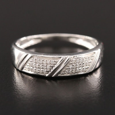 Shy Creations 14K White Gold Diamond Ring