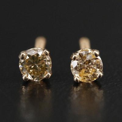 14K 0.20 CTW Diamond Solitaire Earrings
