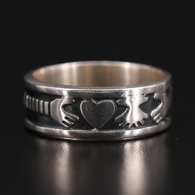 Sterling Silver Helping Hands Band