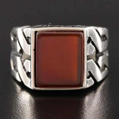 Sterling Silver Sard Ring