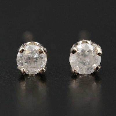 14K Gold 0.16 CTW Diamond Solitaire Earrings