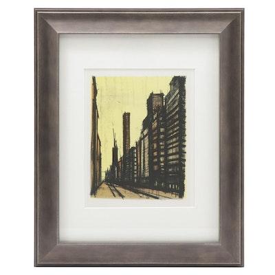 """Color Lithograph after Bernard Buffet """"New York #8,"""" 1967"""