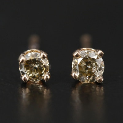 14K 0.14 CTW Diamond Solitaires