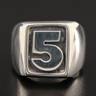 "Sterling Silver ""5"" Ring"