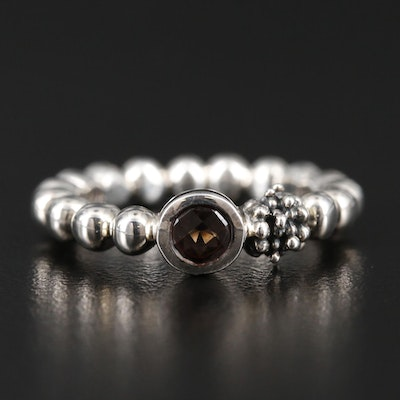 Michael Dawkins Sterling Silver Smoky Quartz Ring