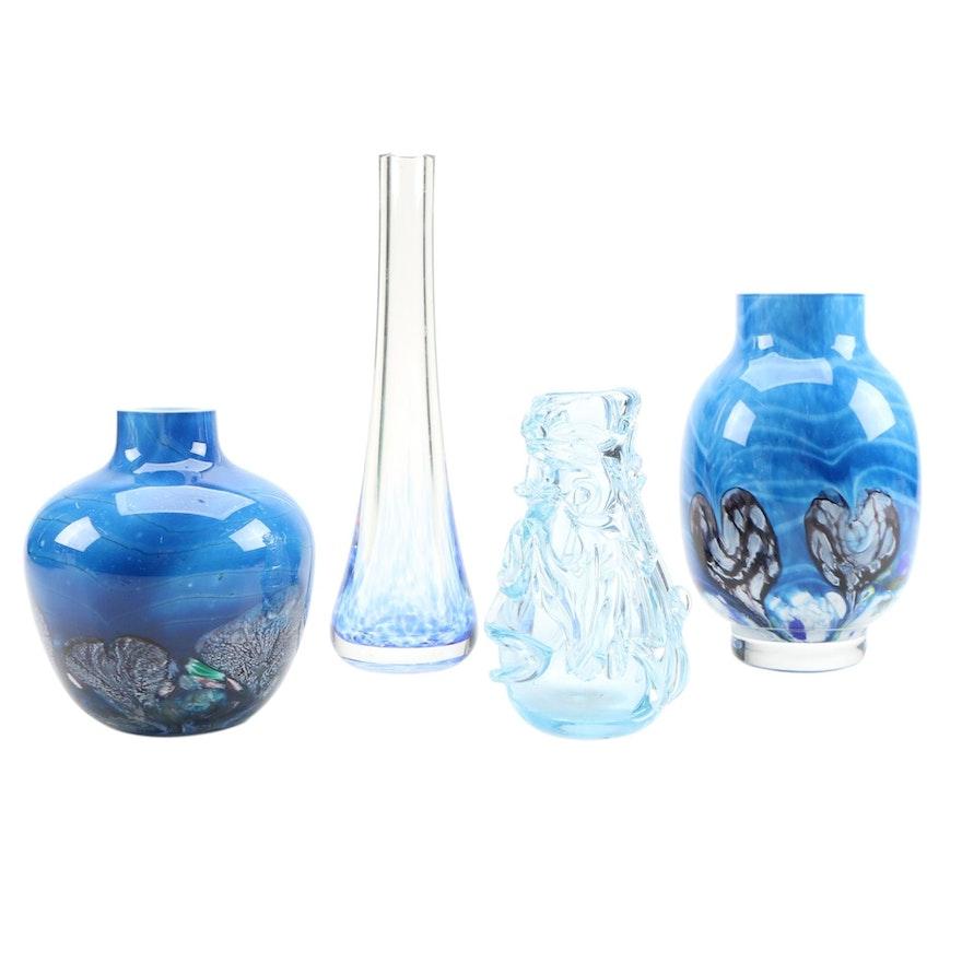 Scottish Art Glass Vases Including Caithness