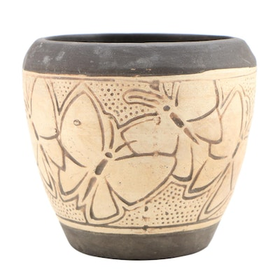 Decorative Ceramic Butterfly Motif Small Bowl, Late 20th Century