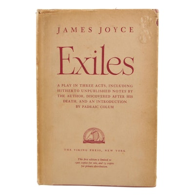 "1951 Limited First Edition ""Exiles"" by James Joyce"