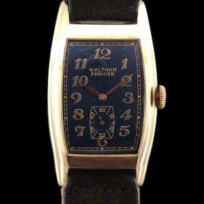 Vintage Waltham Premier 10K Gold Filled Stem Wind Wristwatch
