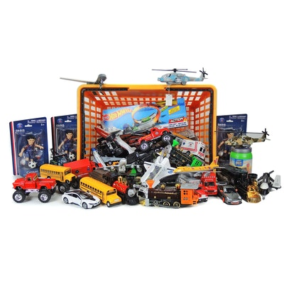 Hot Wheels Loop Star, Toysmith Die-Cast Vehicles, and Other Toys